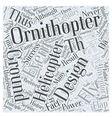 History of Ornithopters Word Cloud Concept vector image
