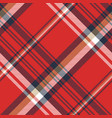 red plaid fabric texture seamless pattern vector image