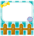 A stationery design with candies and fence vector image