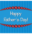 Cricket theme Fathers Day card in format vector image vector image