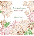 Card with fresh flowers invitation to a great vector image