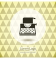 Typewriter logo icon vector image vector image