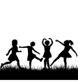 silhouettes playing vector image vector image
