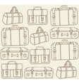 travel bags seamless pattern vector image vector image