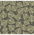 Seamless pattern with autumn leaves fall vector image vector image