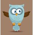 Owl character design vector image