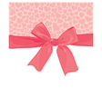 background with a bow and hearts vector image