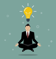 Businessman thinking during meditation vector image