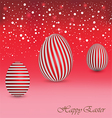 Happy Easter Background with a red Egg vector image