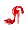 high heel vector image