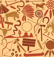 Indian icon pattern set vector image
