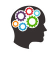 mindful thinking head vector image