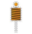 roadblock traffic light warning cut line vector image