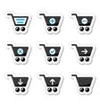 Shopping cart icons set vector image