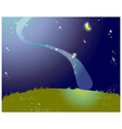 Starry Nights Lanscape vector image