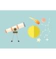 Telescope Celestial Bodies onstellation sun vector image