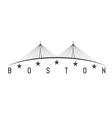 The Leonard P Zakim Bunker Hill Memorial Bridge vector image