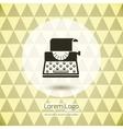 Typewriter logo icon vector image
