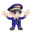 cartoon airplane pilot vector image
