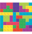 colorful plastic blocks vector image vector image