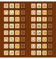 wooden game icons buttons icons interface ui vector image
