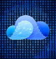 Cloud computing sign vector image vector image