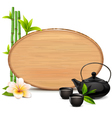 Wooden Board with Teapot vector image