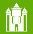 ancient fort icon green vector image
