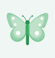 beautiful green cute butterfly vector image