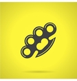 Black brass knuckles flat icon vector image