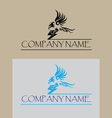 Eagle with thunder with thunder logo vector image