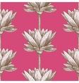 Engraved lotus vector image