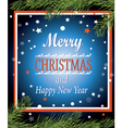 Merry Christmas and Happy New Year Greeting card P vector image