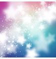 starry background smooth and blured stars on blue vector image
