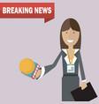 woman journalist news vector image