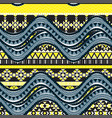 Sea wave background ethnic seamless pattern vector image