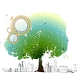 Cityscape Park Background vector image vector image