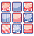 Button stylized colors of the USA flag vector image vector image