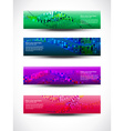 abstract header set of four vector image