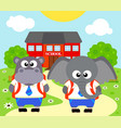 back to school background with elephant vector image