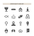 christianity icons set on white background vector image