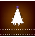 Design with christmas tree EPS 8 vector image