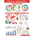 Healthcare Infographics Template vector image