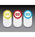One two three - progress icons vector image