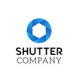 symbol of camera shutter logo design vector image