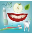 Teeth Hygiene 01 A vector image
