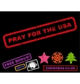 Pray For The USA Rubber Stamp vector image