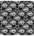 seamless pattern with eye stars and pentagram vector image
