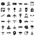 airport icons set simple style vector image