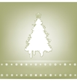 Elegant card with christmas tree EPS 8 vector image vector image